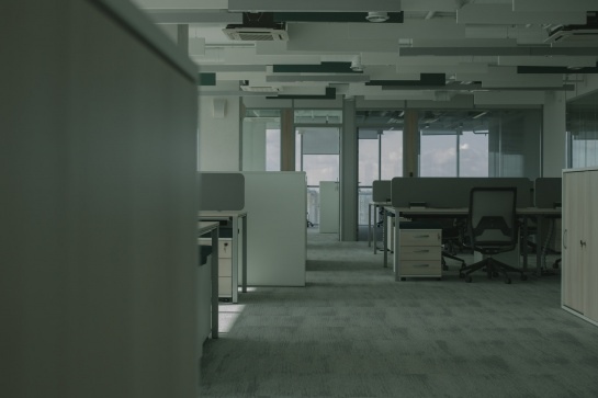 An empty office space